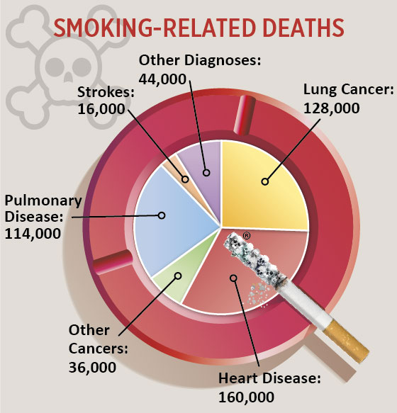Smoking Related Deaths Infographic